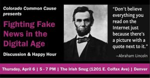 Common Cause Fake News Discussion & Happy Hour
