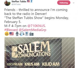Tubbs announces new show on KNUS -2018-02-01-11-29-06-918