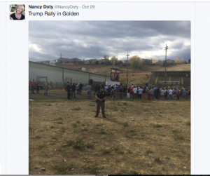 Doty Tweets from Trump Rally 10-16