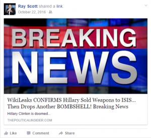 Scott Nov. 6 Wikileaks fake news